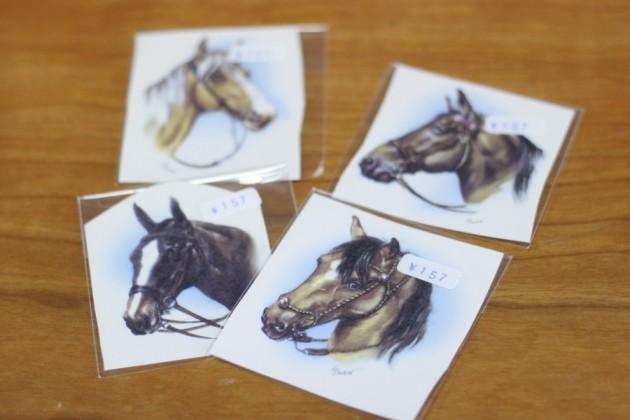 馬柄の転写紙